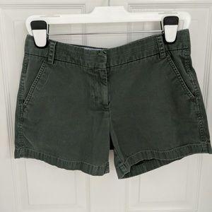 "J. Crew 100% Cotton 5"" Chino Shorts - Hunt. Green"